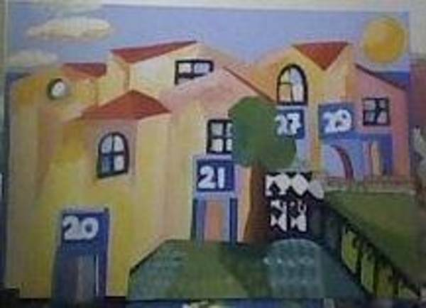 Painting - Town by Ana Johnson