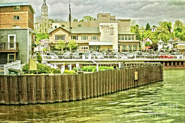 Wall Art - Photograph - Town At The Edge Of The Lake by Mary Machare