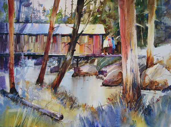 Painting - Covered Bridge Over Town Brook by P Anthony Visco
