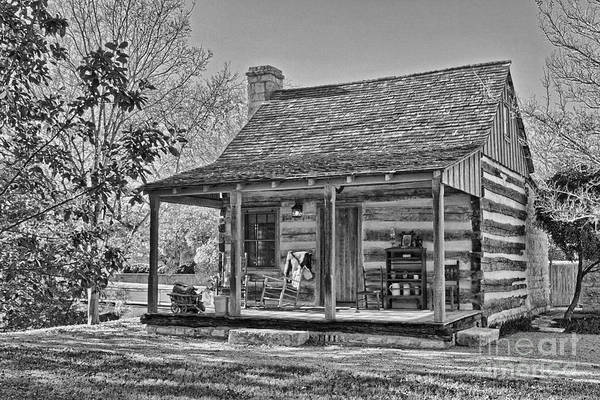 Photograph - Town Creek Log Cabin In Fall_2 by Sam Stanton