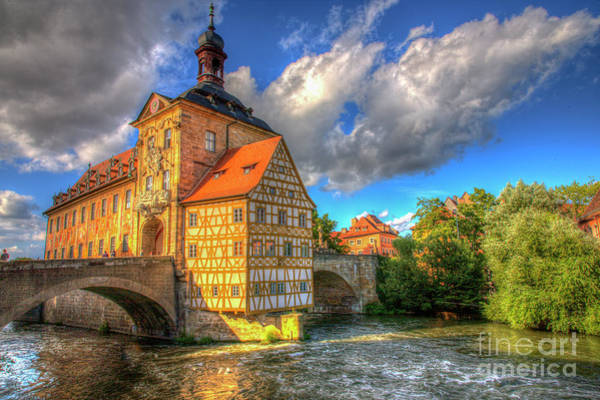Photograph - Town Hall Of Bamberg by Heiko Koehrer-Wagner