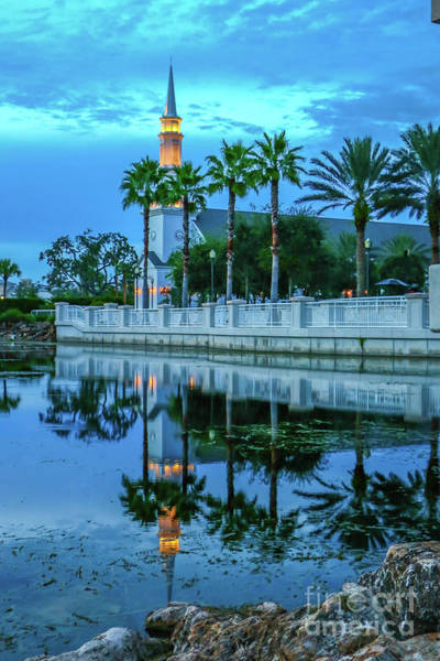 Photograph - Town Hall Reflection by Tom Claud