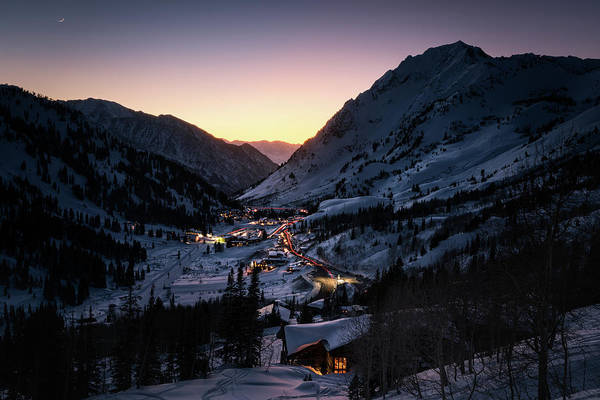 Photograph - Town Of Alta At Dusk by James Udall