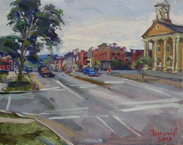 Wall Art - Painting - Town Of Canandaigua Ny by Ylli Haruni