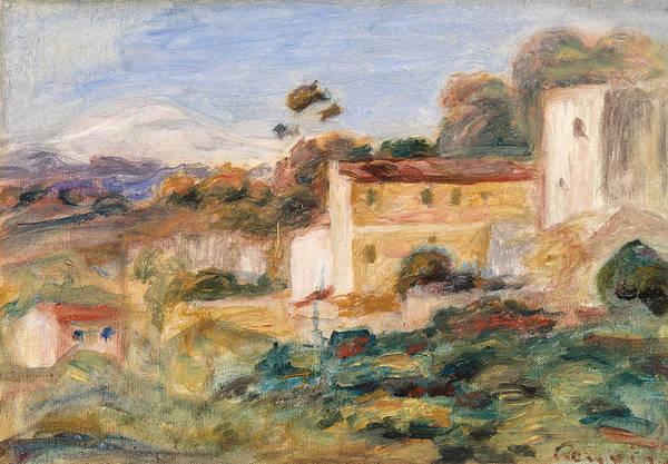 Rural Wall Art - Painting - Town by Pierre-Auguste Renoir