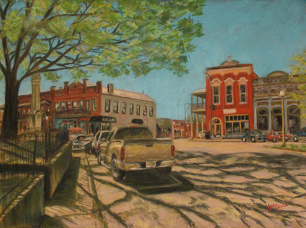 Town Square Wall Art - Painting - Town Square Oxford Ms  by Ann Caudle