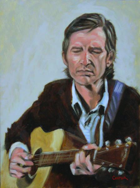 Painting - Townes Van Zandt by Todd Cooper