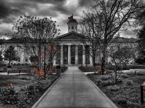 Photograph - Towson Courthouse by Chris Montcalmo