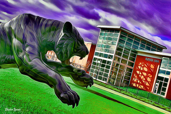 Wall Art - Digital Art - Towson Tigers by Stephen Younts