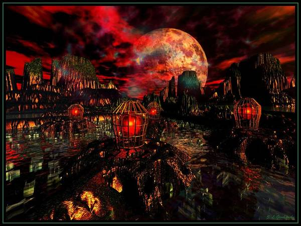 Dingy Digital Art - Toxic Worlds by Steve Grochowsky