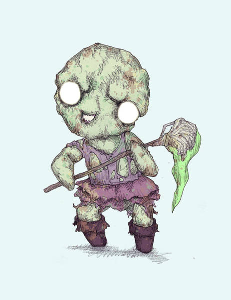 Wall Art - Drawing - Toxie by Ludwig Van Bacon