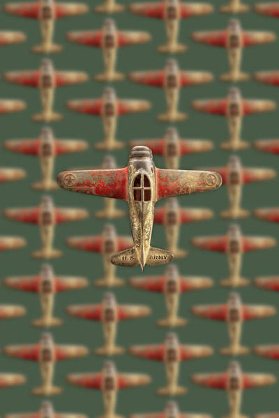 Wall Art - Photograph - Toy Airplane Scrapper Pattern by YoPedro