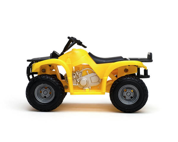 Atv Photograph - Toy All Terrain Vehicle Isolated On White Background by Donald Erickson