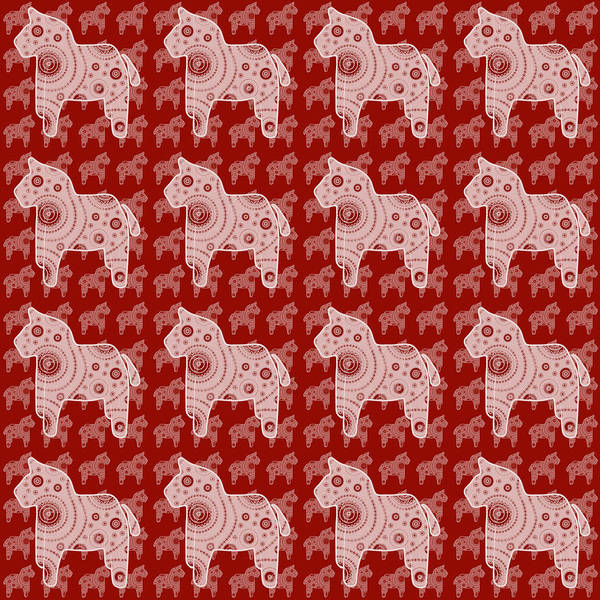 Wall Art - Painting - Toy Horse Pattern by Frank Tschakert