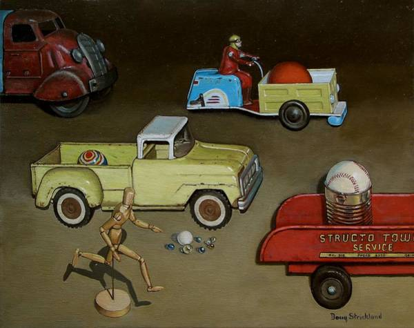 Wall Art - Painting - Toy Parade by Doug Strickland