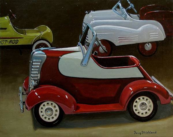 Pedal Car Wall Art - Painting - Toy Pedal Cars by Doug Strickland