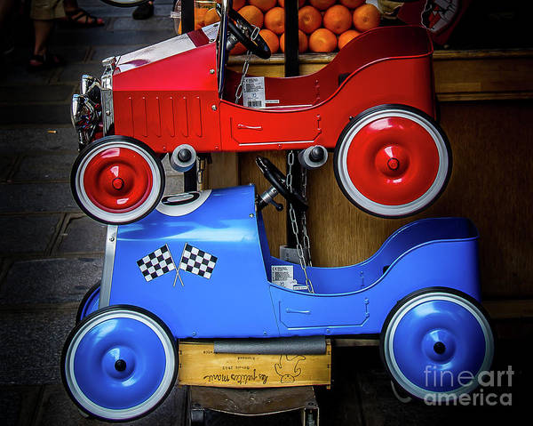 Wall Art - Photograph - Toy Racers by Perry Webster