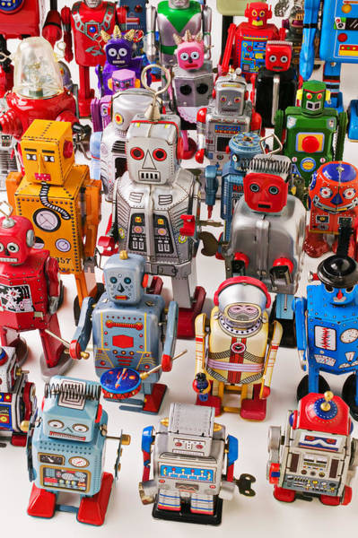 Amuse Photograph - Toy Robots by Garry Gay