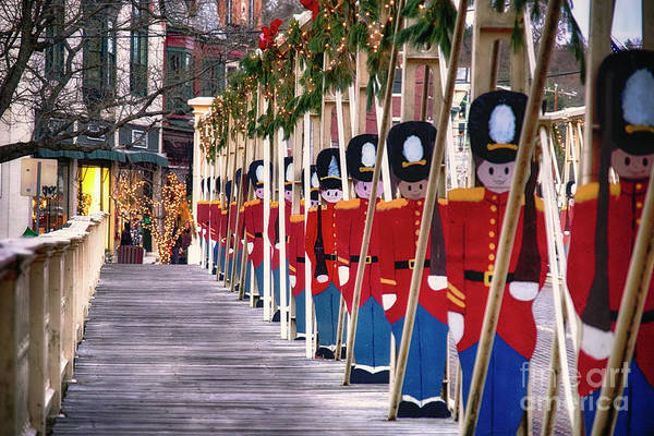 Jolly Holiday Photograph - Toy Soldiers On A Bridge by George Oze