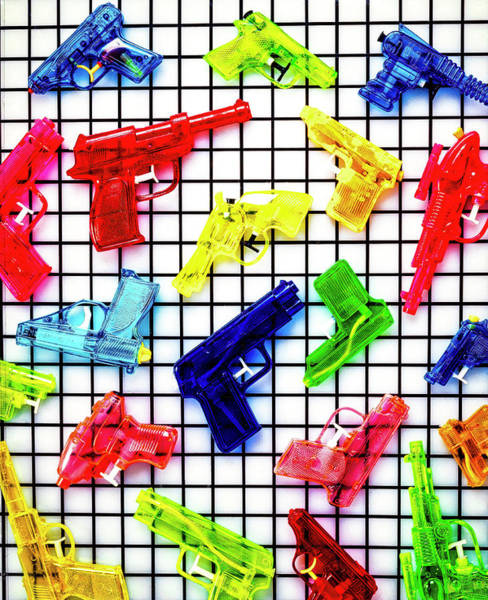 Toy Gun Photograph - Toy Squirt Guns by Garry Gay