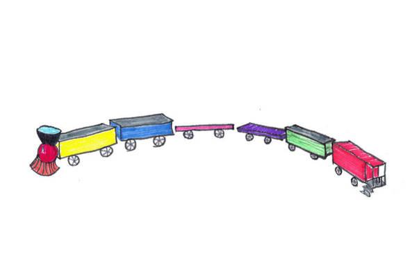 Drawing - Toy Train by Judy Hall-Folde