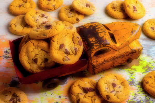 Wall Art - Photograph - Toy Truck And Chocolate Chip Cookies by Garry Gay