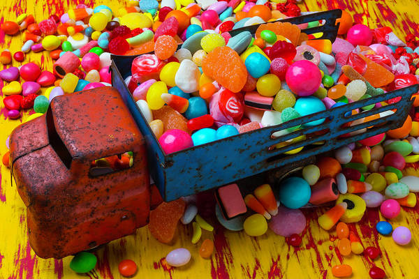 Wall Art - Photograph - Toy Truck Full Of Candy by Garry Gay