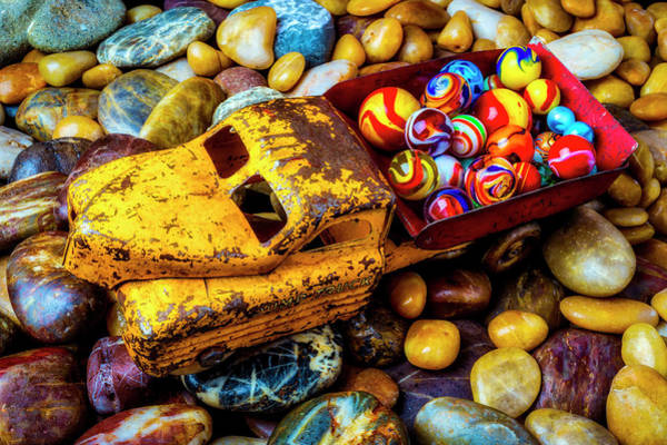 Wall Art - Photograph - Toy Truck With Marbles by Garry Gay