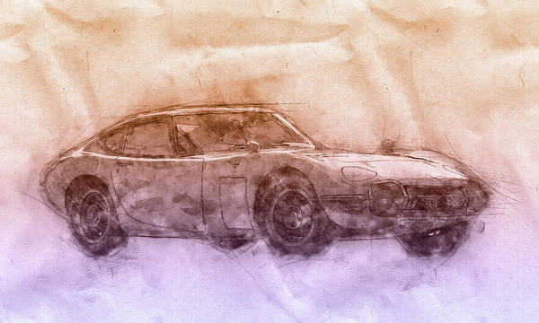 Wall Art - Mixed Media - Toyota 2000gt 2 - Sports Car - Grand Tourer - 1967 - Automotive Art - Car Posters by Studio Grafiikka