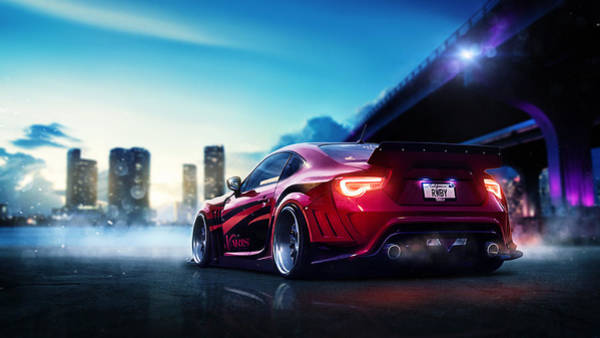 Wall Art - Digital Art - Toyota Gt86 by Mery Moon