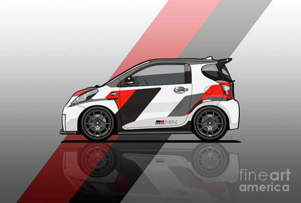 Wall Art - Digital Art - Toyota Scion Grmn Iq Racing Concept by Monkey Crisis On Mars