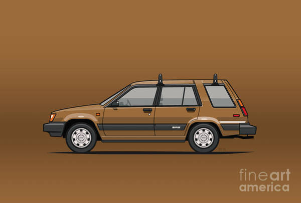 Wall Art - Mixed Media - Toyota Tercel Sr5 4wd Wagon Al25 Bronze by Monkey Crisis On Mars
