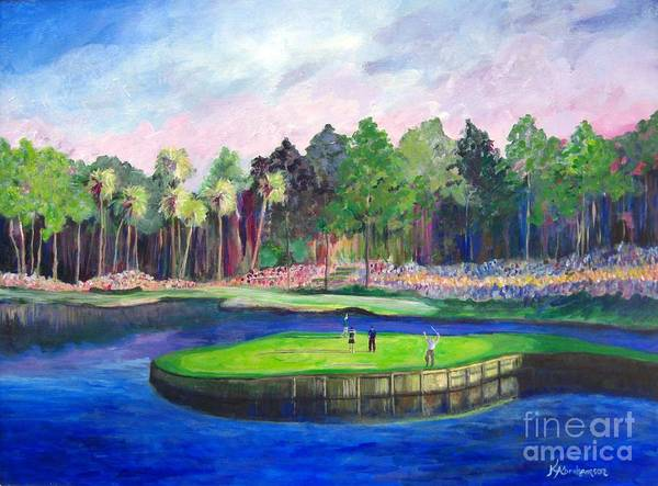 Painting - Tpc 17th Sawgrass by Kristen Abrahamson