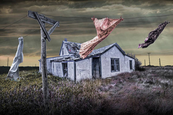 Dirty Laundry Photograph - Traces Of A Prairie Past Life by Randall Nyhof