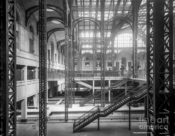 Photograph - Track Level And Concourses Pennsylvania Station New York by Russell Brown