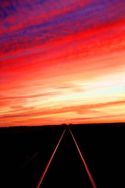 Photograph - Track To Infinity by David Matthews