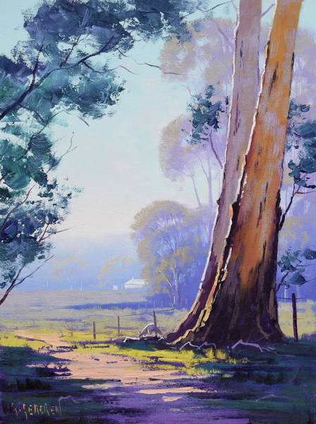 Beautiful Landscape Painting - Track To The Farm by Graham Gercken