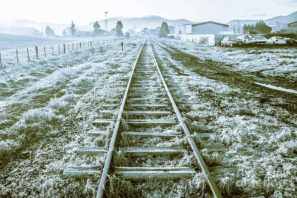 Ice Wall Photograph - Tracks To Travel Tasmania by Jorgo Photography - Wall Art Gallery