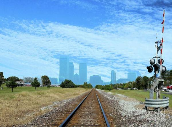 Tulsa Digital Art - Tracks To Tulsey Town by Janette Boyd