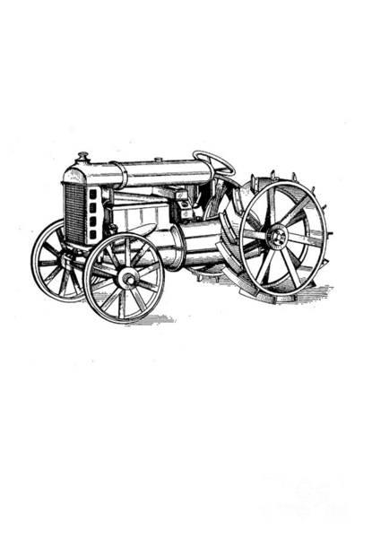 Sweatshirt Wall Art - Photograph - Tractor 1919 Henry Ford T-shirt by Edward Fielding