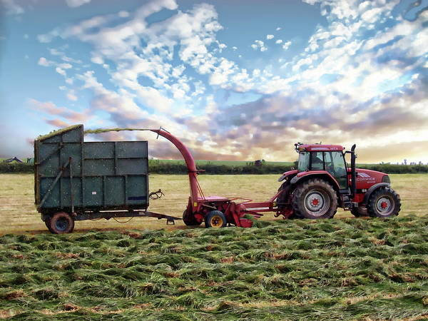 Photograph - Tractor And Forage Harvester by Anthony Dezenzio