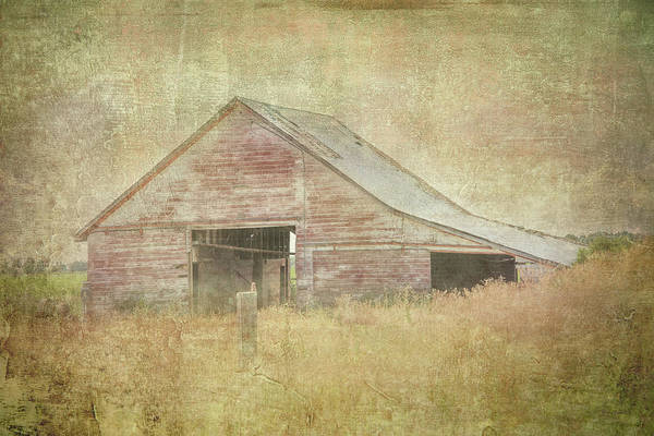 Digital Art - Tractor Barn by Ramona Murdock