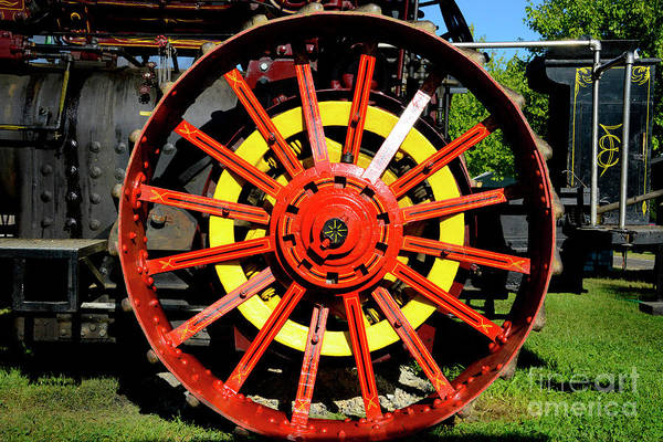 Wall Art - Photograph - Tractor Big Wheel by Paul W Faust - Impressions of Light