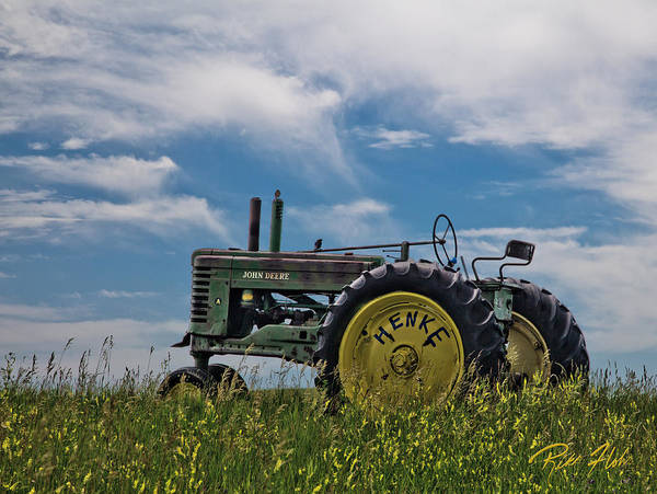 Photograph - Tractor In Field by Rikk Flohr