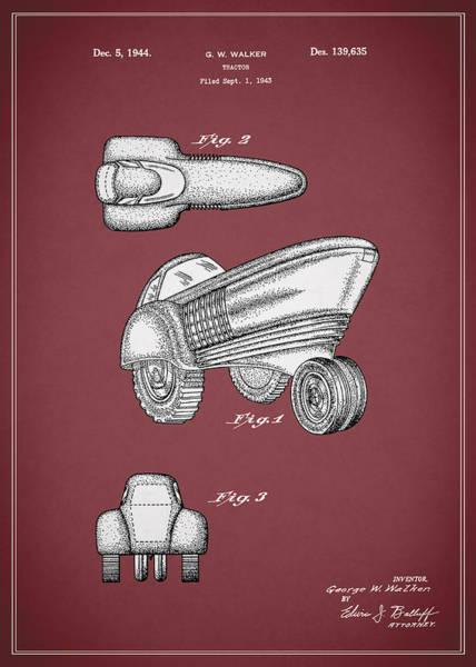 John Deere Photograph - Tractor Patent 1944 by Mark Rogan