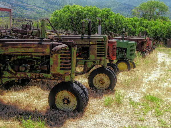 Photograph - Tractor Row by David King