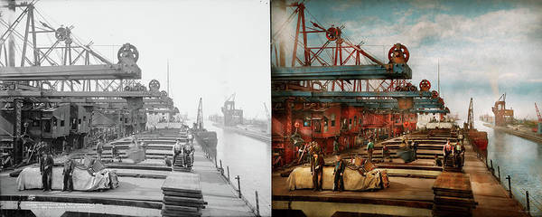Photograph - Trade - It's Iron Ore It's Nothing 1900 - Side By Side by Mike Savad
