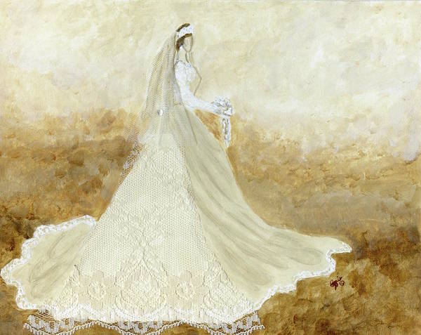 Painting - Traditional Bride by Stephanie Agliano