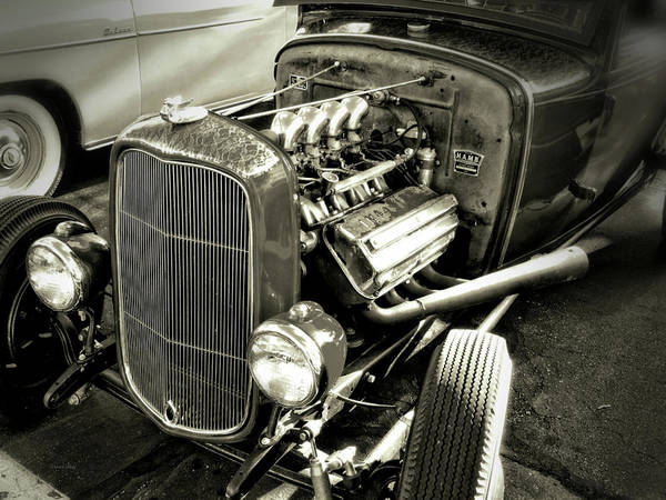 Photograph - Traditional Hemi Bw by David King