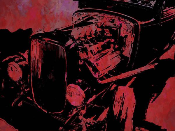 Digital Art - Traditional Hemi Pop Red by David King
